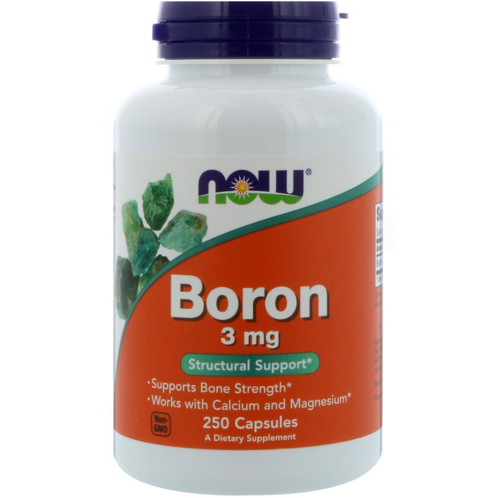 Бор, Boron, Now Foods, 3 мг, 250 капсул