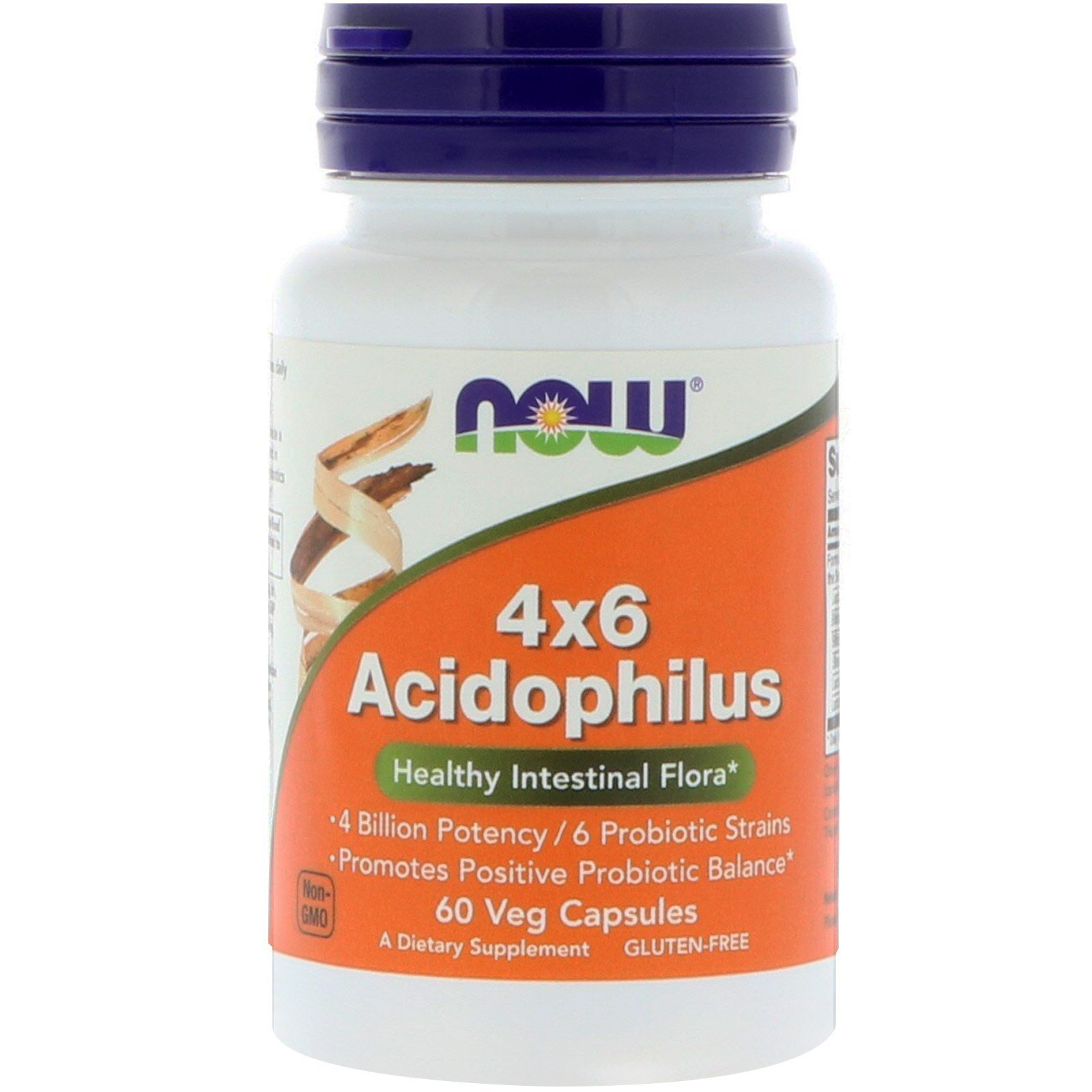 Пробіотики, Acidophilus, Now Foods, 60 капсул