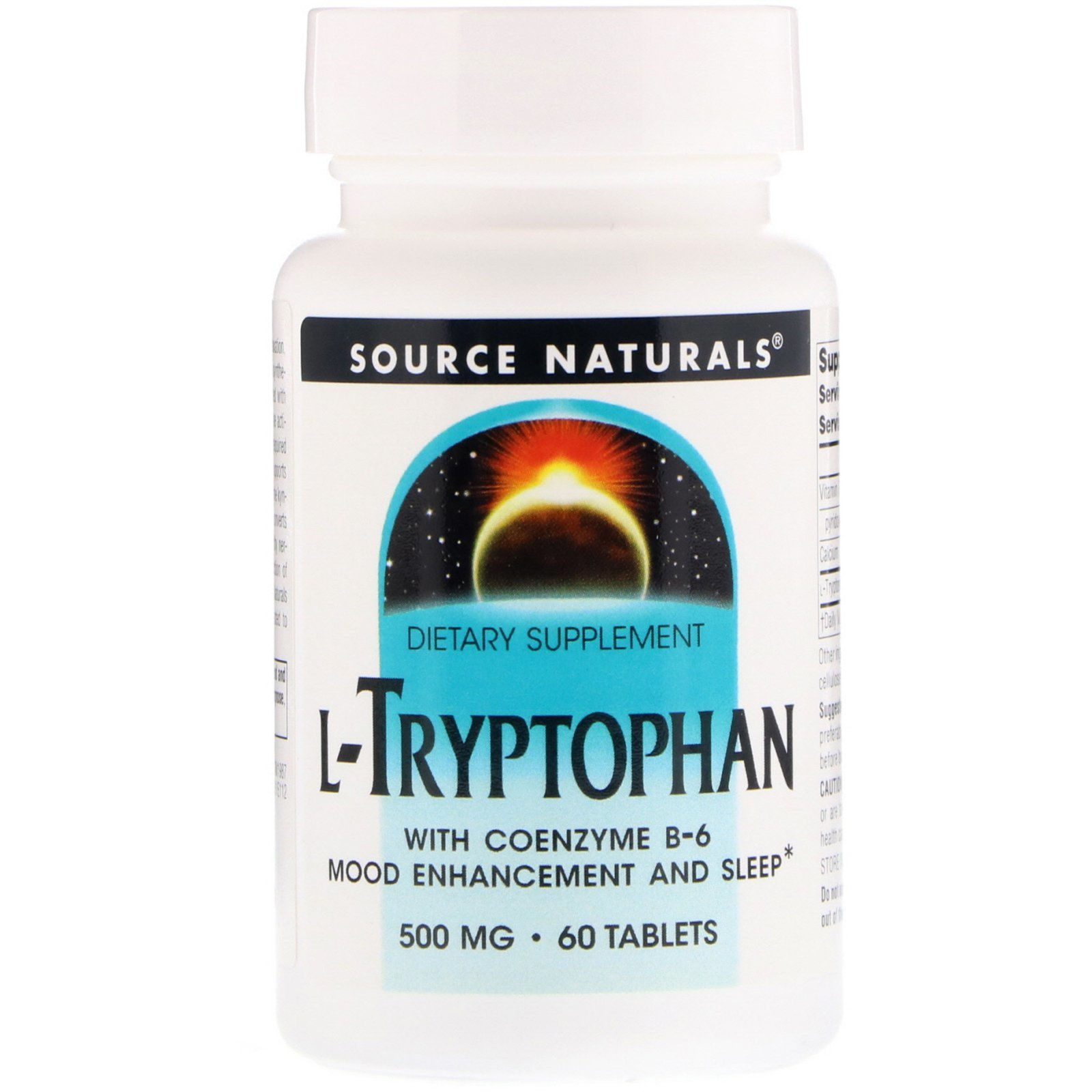 L-триптофан коферментной (L-Tryptophan with Coenzyme B-6), Source Naturals, 60 таблеток