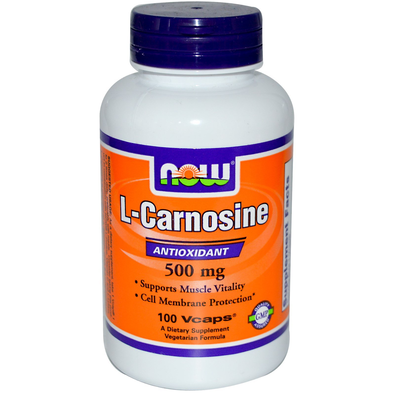 Карнозин, L-Carnosine, Now Foods, 500 мг, 100 капсул
