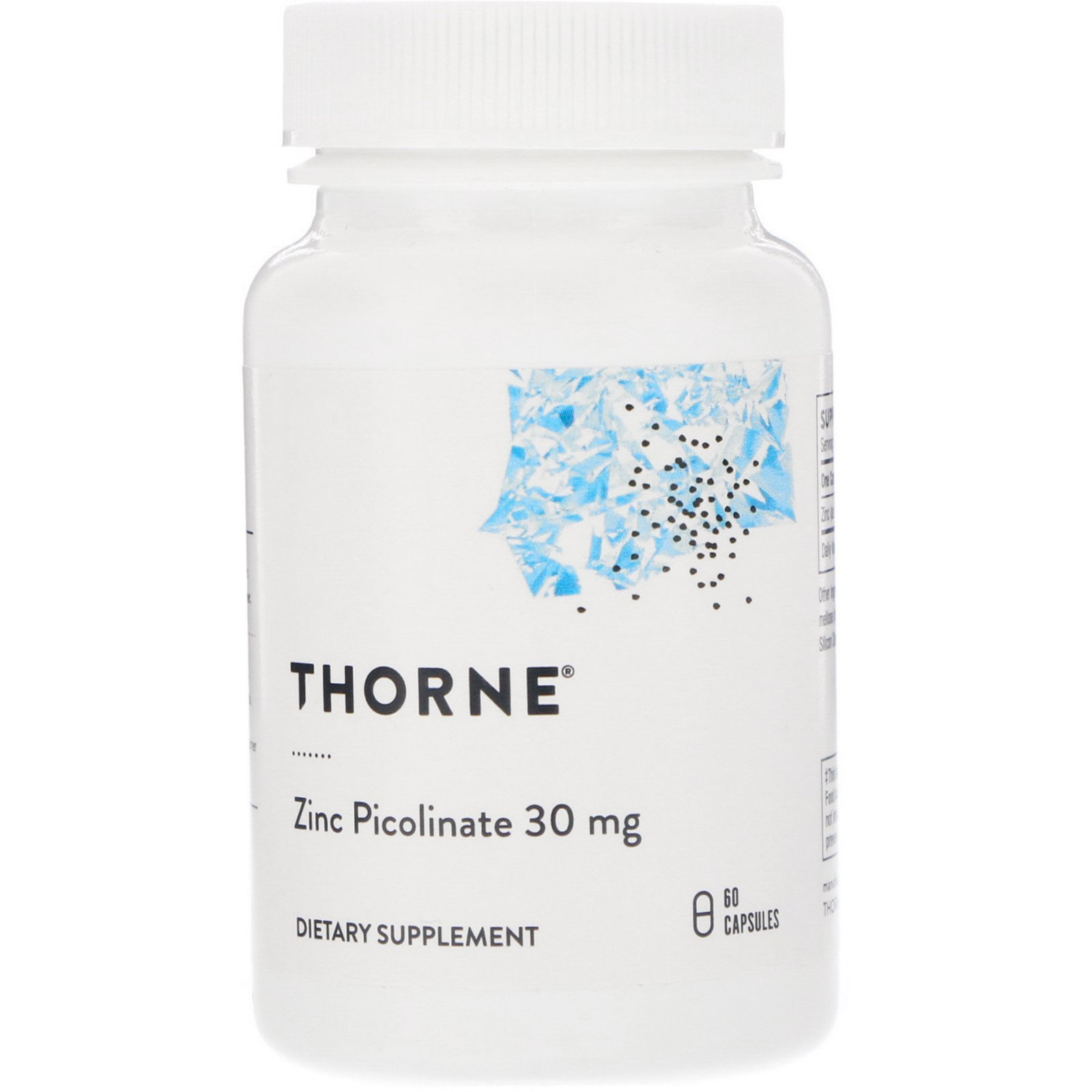 Цинк пиколинат посилений, Zinc Picolinate, Thorne Research, 60 капсул