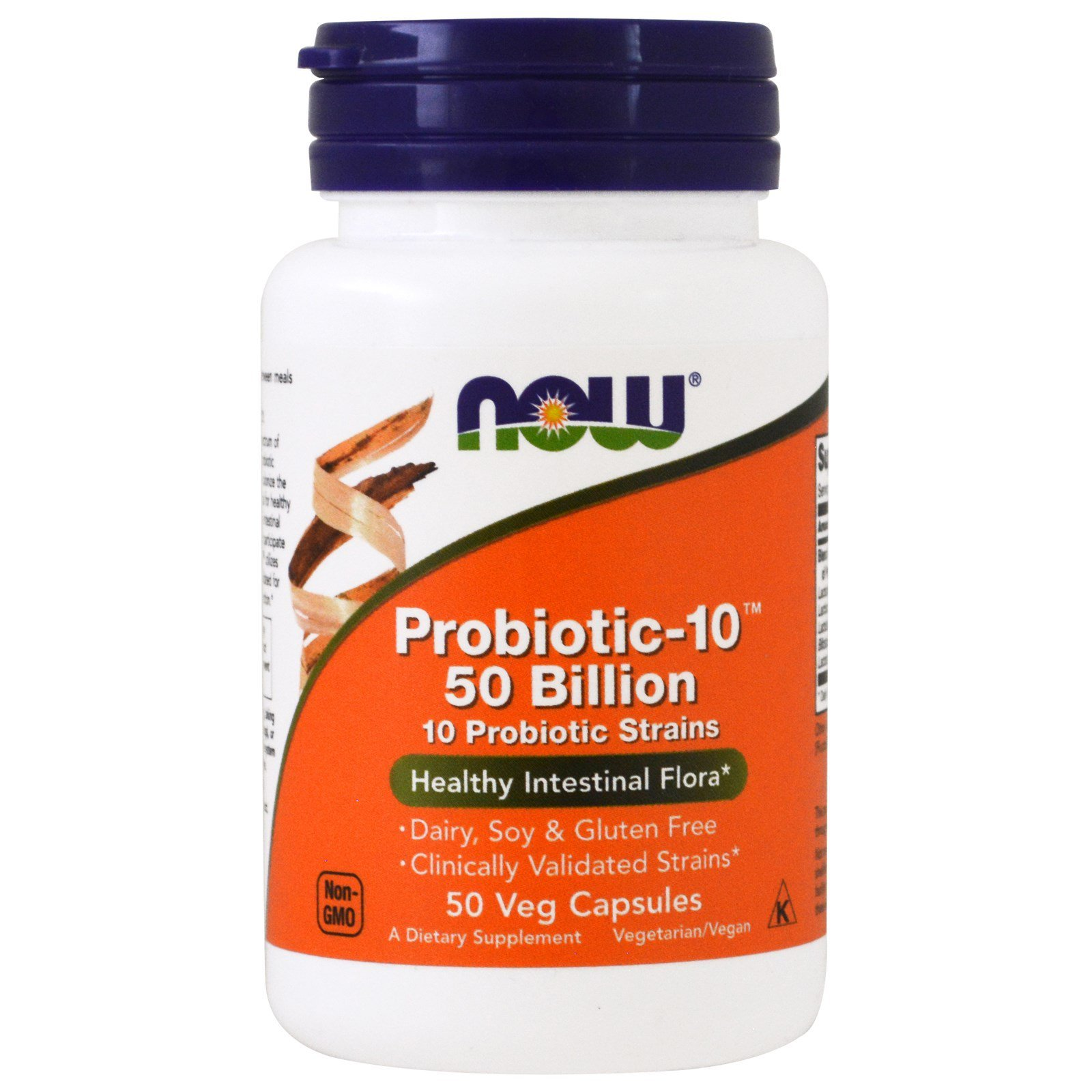 Пробіотик-10, Probiotic 50 Billion, Now Foods, 50 капсул